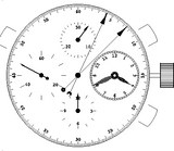 Mouvement chronographe AROLA 7750 Rat1